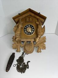 German Cuckoo Clock Repair Or Parts - With Weights Does