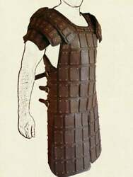 Mens Real Leather Medieval Armour Re-enactment Armor Theatrical Armor Larp Sca