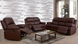 Curbside Shipping To Virginia Black Or Brown 3pc Recliner Sofa Set