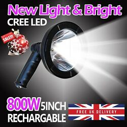 Large LED Sport Light 80000LM Rechargeable Lamp Lamping Super Bright Car Charger