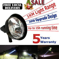 Large LED Sport Light 128000LM Rechargeable Lamp Lamping US Stock amp;Car Charger