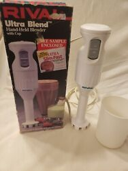 Rival Model 951 Vintage Ultrablend Electric Hand Held Blender With Cup And Box