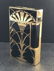 S.t. Dupont Limited Edition American Art Deco L2 Lighter Yellow Gold 0133/1930
