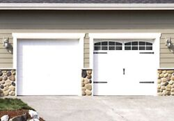Coach House Accents French Country Faux Garage Door Window 2 Car Garage Kit