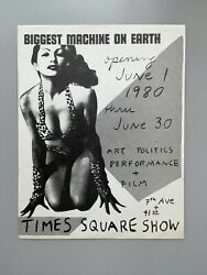 Times Square Show 1980 / Flyer Original / Basquiat / Keith Haring / New York