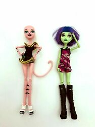 Mattel Monster High Doll Cam Create A Monster Starter Pack Cat And Witch Doll Lot