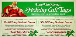 1983 Long John Silvers Coca-cola Gift Tag Coupons Unpunched