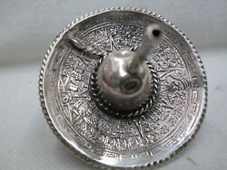 Dreidel Handmade Sterling Silver Mexican Hat And Tiger Eye Stone Made By S.katan