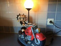 Extremely Rare Betty Boop Sexy On Motorcycle Big Figurine Table Lamp Statue