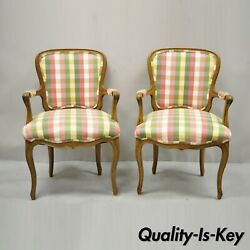 Vintage French Provincial Fauteuil Arm Chairs By Simon Loscertales Bona - A Pair