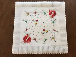 Doilies Vintage Paper Cocktail 50 Nib Red Rooster Party England Placemats Napkin