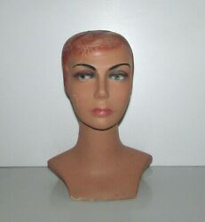 Vintage Rare Antique Mannequin Woman Head Store Display Height 121/2