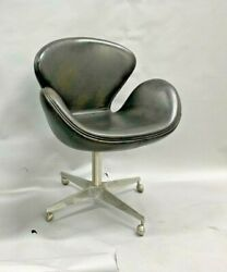 Reproduction Swan Chair By Arne Jacobsen Brown Leather