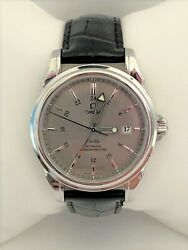 Omega Deville Co-axial Gmt Steel Grey Dial Automatic 38.7 Mens Watch 4833.40.31