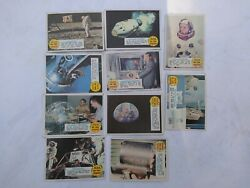 Vintage Lot Of 10 Man On The Moon Trading Cards From 1969 By Topps