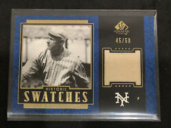 2003 Sp Legendary Cuts Christy Mathewson Game Used Pants Jersey Card /50
