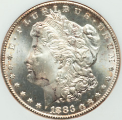 1883-cc Morgan Ngc Ms65dpl White With Hints Of Tone At Edges Cameo