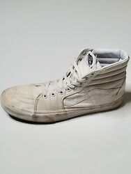 Vans Off The Wall High Top Canvas All White Skater Shoes Casual Sneaker Sz 11.5