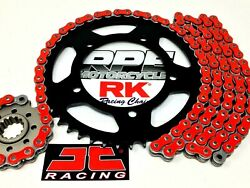 Suzuki Drz400sm 2005-2021 Colors Rk Racing X-ring Chain And Black Sprocket Kit