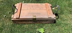 Vintage Military Wooden Ammo Crate Box Mortar For Cannon M1 M29 Explosives