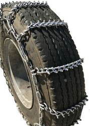 Snow Chains 7.50-15lt, 7.50 15lt Studded Cam Tire Chains Set Of 2
