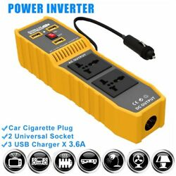 400w Power Dc 12v To Ac 110v Car Power Inverter 3 Usb 2 Outlets Heat Protect