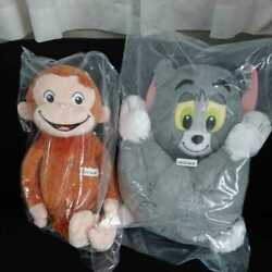 Tom Jerry Ossing Premium Big Plush Doll Curious George Set Of Special Dolls