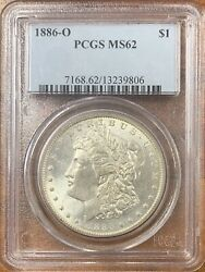 1886-o Morgan Silver Dollar Pcgs Ms62nice Coin Better Date