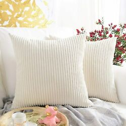 Home Decor Decorations For Sofa Couch Bed Chair 20x20 Inch/50x50 Cmstriped Crem