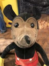 Mickey Mouse 30s Vintage Rare Stuffed Animal Stuffed Toy Disny Antique