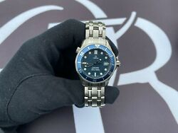 Omega Seamaster Stainless Steel Watch   Blue Dial