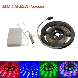 1m-5m 3528 Rgb Led Strip Waterproof Light Flexible Dimmable Battery Powered Lamp