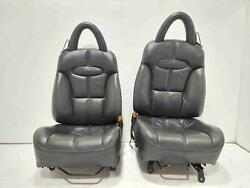 00-02 Chrysler Plymouth Prowler Front Seat Set With Headrests Agate Llaz