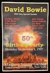 David Bowie 1997 50th Birthday Concert Poster-nyc-foo Fighters-lou Reed-cure