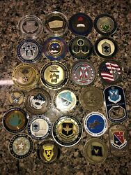 Lot Of 25 Military Collectible Challenge Coins United States Air Force Bottle