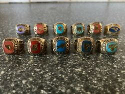 Balfour Ring Set Mlb Nba Ncaa Mint Condition All Size 7.