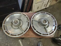 Two Vintage 1964 64 Chevrolet Chevy Impala Chevelle Ss Hubcaps Wheel Covers