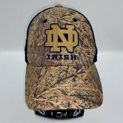 Notre Dame Irish Camo Mesh-back Hat Cap By Captivating Headgear Preowned Clean