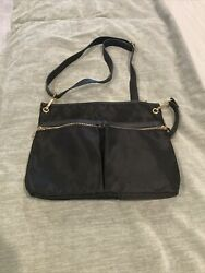 A New Day Crossbody Travel Black Nylon Made from Recycled Plastic Womens $8.99