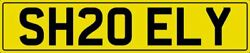 Shelly Shelley Number Plate Sh20 Ely Shell Shely Shel Private Reg With Fees Paid