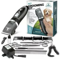 Pet Union Professional Dog Grooming Kit - Rechargeable, Complete Set Of Dog Groo