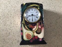 """Moorcroft """"queens Choice"""" Clock Designed By Emma Bossons Date 2000"""