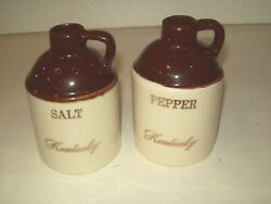Vintage P. C. A. Stoneware Kentucky Whiskey Jugs Salt And Pepper Shakers