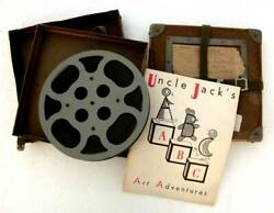2 Film Reels 50's Tv Show Unk And Andy Art Adventures And Booklet Uncle Jack's Abc