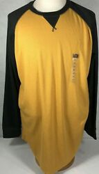 The Foundry Supply Co. Adult Men#x27;s Long Sleeve Shirt 2XLT Black Gold NWT
