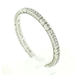 Antique Art Deco Platinum Floral Wheat Engraved Top And Sides Eternity Band Ring