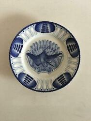 Early Original Bing And Grondahl Heron Pattern Plate From 1886-1888