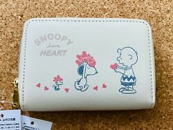 Snoopy Pass Case And Coin Purse Wallet Mini Wallet / Heart Peanuts Charlie Brown