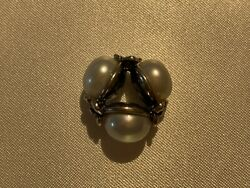 Authentic Trollbeads White Triple Pearl 1