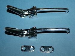 New 1953 1954 1955 Corvette Convertible Top Front Latches With Spacers Mint